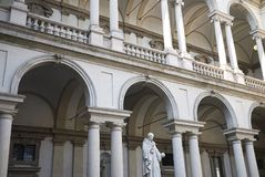 Palazzo Brera podwórze zdjęcia stock