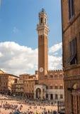 Palazzo Bublico在锡耶纳,意大利 免版税库存照片