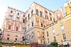 Palazzo célèbre Cellamare à Naples, Italie Images libres de droits