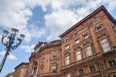 Palazzo Carignano, историческое здание в Турине, Пьемонте, Италии Стоковые Фото
