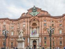 Palazzo Carignano de Turin, Itália Fotografia de Stock Royalty Free