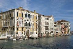 Palazzo Cavalli Franchetti на грандиозном канале, Венеции Стоковая Фотография