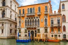 Palazzo Cavalli-Franchetti на грандиозном канале, Венеции Стоковые Фото