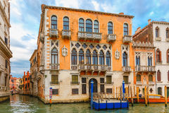 Palazzo Cavalli-Franchetti на грандиозном канале, Венеции Стоковая Фотография RF