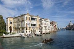 Palazzo Cavalli Franchetti op Grand Canal, Venetië Stock Foto