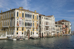 Palazzo Cavalli Franchetti op Grand Canal, Venetië Stock Fotografie