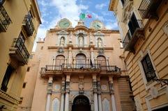 Palazzo Cavarretta (Stadhuis) in Trapan. Royalty-vrije Stock Foto