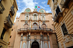 Palazzo Cavarretta (Town Hall) in Trapani. Royalty Free Stock Photo