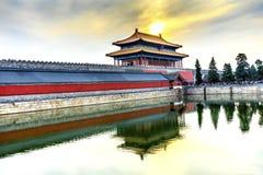 Palazzo celeste Pechino C di Gugong la Città proibita di purezza del portone posteriore Immagini Stock Libere da Diritti