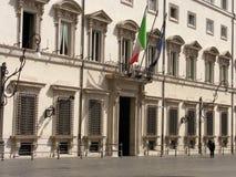Palazzo Chigi à Rome Images libres de droits