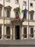 Palazzo Chigi in Rome Royalty Free Stock Photography