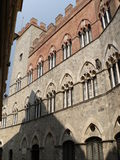 Palazzo Chigi-Saracini, Siena (Италия) Стоковое Изображение