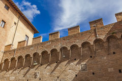 Palazzo Chigi Saracini in Siena Stock Images