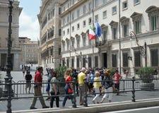 Palazzo Chigi w Rzym, Włoska Pierwszorzędnego ministra siedziba zdjęcia royalty free
