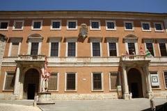 Palazzo Chigi Zondadari in dOrcia van San Quirico, Tus Royalty-vrije Stock Foto