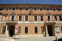 Palazzo Chigi Zondadari no dOrcia de San Quirico, Tus Foto de Stock Royalty Free