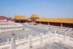 Palazzo cinese severo della città a Pechino Fotografie Stock