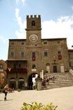Palazzo Comunale en Cortona (Italia) fotografía de archivo libre de regalías