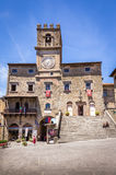 Palazzo Comunale historic building in Cortona, Italy Stock Photo