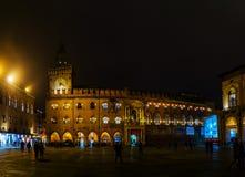 Palazzo Comunale im Bologna, Italien Stockfotografie