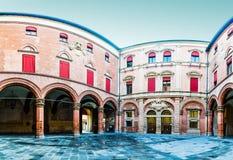 Palazzo Comunale im Bologna, Italien Stockbild