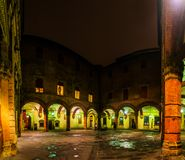 Palazzo Comunale im Bologna, Italien Stockbilder