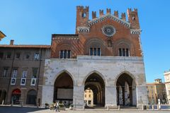 Palazzo Comunale at Piazza Cavalli, Piacenza, Italy Royalty Free Stock Images