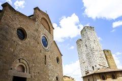 Palazzo Comunale, San Gimignano, Italië Stock Afbeeldingen