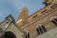 Palazzo Comunale Siena Royalty-vrije Stock Afbeeldingen