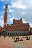 Palazzo Comunale in Siena. Royalty Free Stock Images