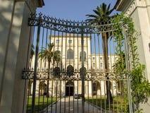 Palazzo Corsini在闭合的铁门后的罗马 库存图片