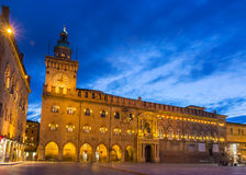 Palazzo d'Accursio在波隆纳,意大利 免版税库存照片