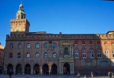 Palazzo d ` Accursio Bologna Zdjęcia Stock