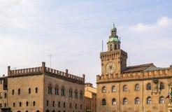 Palazzo-d'Accursio, Bologna Stockfoto
