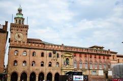 Palazzo d`Accursio in Bologna. Stock Photo