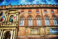 Palazzo D'Accursio im Bologna Stockfoto