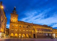 Palazzo-d'Accursio im Bologna, Italien Lizenzfreie Stockfotos