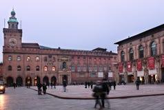 Palazzo-d'Accursio im Bologna, Italien Stockbild