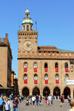 Palazzo D'Accursio town hall in Bologna, Italy Royalty Free Stock Photos