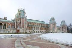 Palazzo d'annata della Russia nell'inverno Fotografia Stock