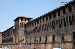 Palazzo-d& x27; Accursio u. x28; oder Palazzo Comunale& x29; ist ein Palast im Bologna, Italien Stockfotografie
