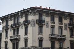 Palazzo dans le corso Verceil, au centre de Milan photos libres de droits