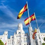 Palazzo de cibeles, Madrid Arkivfoto