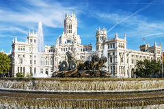 Palazzo de cibeles, Madrid Royaltyfri Foto