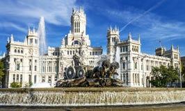 Palazzo de cibeles, Madrid Royaltyfria Bilder