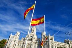 Palazzo de cibeles, Madrid Royalty Free Stock Photos