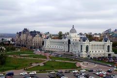 Palazzo degli agricoltori a Kazan - costruzione del Ministero di agricoltura e dell'alimento, Repubblica di Tatarstan, Russia Fotografia Stock Libera da Diritti