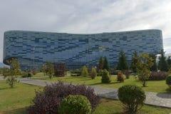 Palazzo degli sport invernali dell'iceberg, che è stato usato durante la vittoria 2014 Immagine Stock