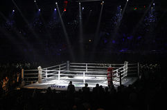 Palazzo degli sport in Kyiv durante Fotografie Stock Libere da Diritti