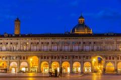 Palazzo-dei Banchi im Bologna, Italien stockfotografie